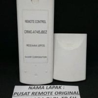 LARIS ORIGINAL REMOTE REMOT AC SHARP CRMC A745JBEZ ION PLASMACLUSTER