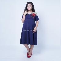 Harga baju hamil modern dress menyusui brokat bunga agatha cantik dro | Pembandingharga.com