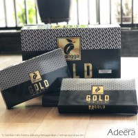 Murah - Sarung Mangga Gold Hitam Polos Tumpal Kain Halus Premium