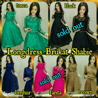 Long Dress/Maxi Dress Brukat/Brokat/Lace Cantik Elegant Party/Pesta