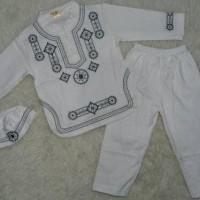 TERLARIS Baju Koko Bayi Muslim Laki Laki Koko Anak Bayi Putih Bordir