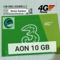MURAH Kartu Perdana Internet Tri Kuota Data 3 Three Aon 10 Gb 10Gb