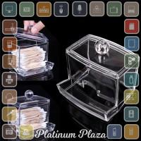 Kotak Acrylic Make Up Kapas Tusuk Gigi Serbaguna - Transparent`ELPSQ0-