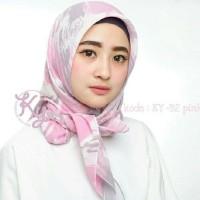 Hijab Jilbab Kerudung Segi Empat Fine Motif Abstrak Cantik Murah Sf02