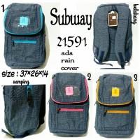 tas ransel wanita subway 21591 subway original tas backpack terbaru