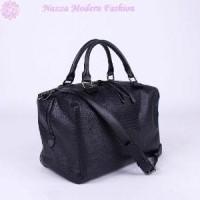 Tas Hand Bags wanita motif kulit buaya hitam polos & Tas Cantik bran