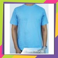 kaos polos biru muda/lengan pendek/oblong polos birumuda/grosir