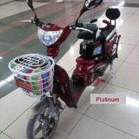 Harga e bike new sepeda listrik earth platinum garansi resmi super | Pembandingharga.com