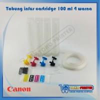 (Dijamin) Tabung Infus Printer Canon 100ml 4 warna