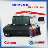 Printer Canon iP2770 Baru infus + Cartridge Recycle PG810 CL811 ORI