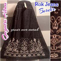Jual rok jeans motif bordir murah Murah