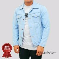 BEST SELLER Jaket Levis Biru Telor Asin Premium Jaket Jeans Pria jake