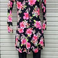 Baju Renang Muslim Muslimah Wanita ukuran besar XXL  / 3L motif ul07