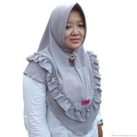 Jilbab Instan Rempel Bahan Bubble Crepe Premium Tebal Tidak Nerawang