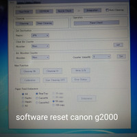 software reset printer canon G2000
