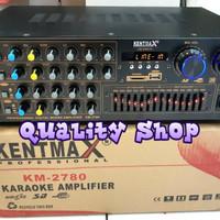 Harga amplifier mixer 4 channel kenmax km 2780 usb bisa buat 4 | Hargalu.com