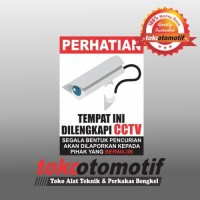 Sticker Safety Sign K3 Area Diawasi CCTV / Tempat Ini Dilengkapi CCTV