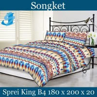 Tommony Sprei King B4 180 x 200 - Songket
