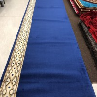 Karpet Masjid Roll Tebal Import Turki Warna Biru Polos - Al Aqsa
