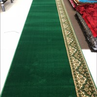 Karpet Masjid Roll Tebal Import Turki Warna Hijau Bintik - Al Aqsa