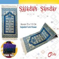 Sajadah Sandar Turki Flower MUrah Lipat Busa berkualitas karpet Pabrik