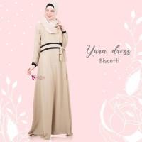 TOP SELLER ORIGINAL Gamis House Of Valisha Yara Dress Biscotti baju g