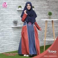 TOP SELLER ORIGINAL Gamis Yasmeera Keina Dress Navy Terracotta baju m