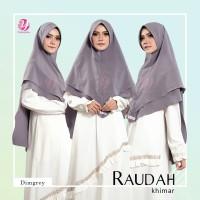 BEST SELLER TERBARU Yasmeera Khimar Raudah Dim Grey hijab kerudung kh
