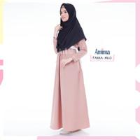 PROMO BEST SELLER Gamis Amima Farra Dress Milo baju gamis wanita busa
