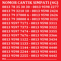 Jual Kartu Perdana Nomor Cantik Telkomsel Simpati AS Indosat XL Axis Murah