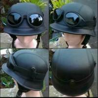 Helm retro nazi jerman kulit kacamata hitam Helm Klasik Sni