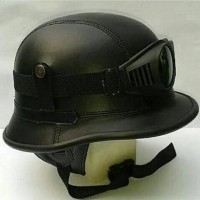 Helm retro nazi jerman kulit kacamata hitam Helm Retro Classic