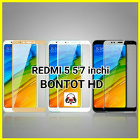 Tempered Glass 2.5D 9H Color Warna Full Layar Hp Xiaomi Redmi 5
