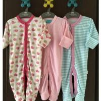 3 PCS SleepSuit (Baju Tidur bayi 0-9 bulan ) Merk Libby- Girl