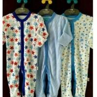 3 PCS SleepSuit (Baju Tidur bayi 0-9 bulan ) Merk Libby- Boy