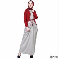 murah Baju Muslim Wanita Model Gamis Cocok untuk lebaran
