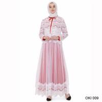 best seller Baju Gamis Brokat Warna Putih Modis