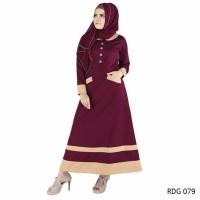jual Baju Gamis Wanita Modern Simple Cocok untuk lebaran