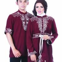jual Busana baju couple muslim Sarimbit Pasangan Kembaran Modern Teba