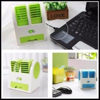 murah AC KIPAS ANGIN PORTABLE MINI DUDUK DOUBLE FAN DOUBLE BLOWER AC