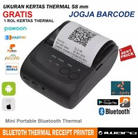 PROMO MINI THERMAL PRINTER BLUETOOTH IWARE M58-LL ( KUAT & BANDEL )