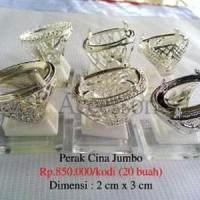 Grosir Ring / Emban Cincin Perak Malaysia / Cina Mata Jumbo kolek