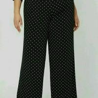 Celana Panjang Big Size XL-4XL Jumbo CTH Factory Outlet Polkadot Kulot