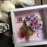 Mahar Mas Kawin Seserahan Uang Buket Bunga Pigora Minimalis