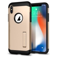 Spigen Iphone X Case Slim Armor champagne gold ( Original )