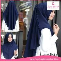 jilbab instan khimar lazmy bahan bubble pop model modern cantik