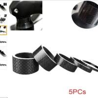 Sepeda Carbon Fiber Washer Bike Bicycle Headset Stem Spacers Bike 5pcs