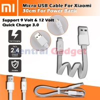 Kabel Powerbank Xiaomi Original 30cm Fast Charging Mi Power Bank Cable