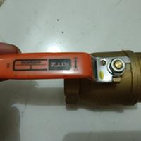 ball valve kuningan/ stop kran 400 wog metk kitz japan asli uk 11/2