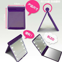 Cermin LED / cermin makeup terdapat 8 butir lampur LED